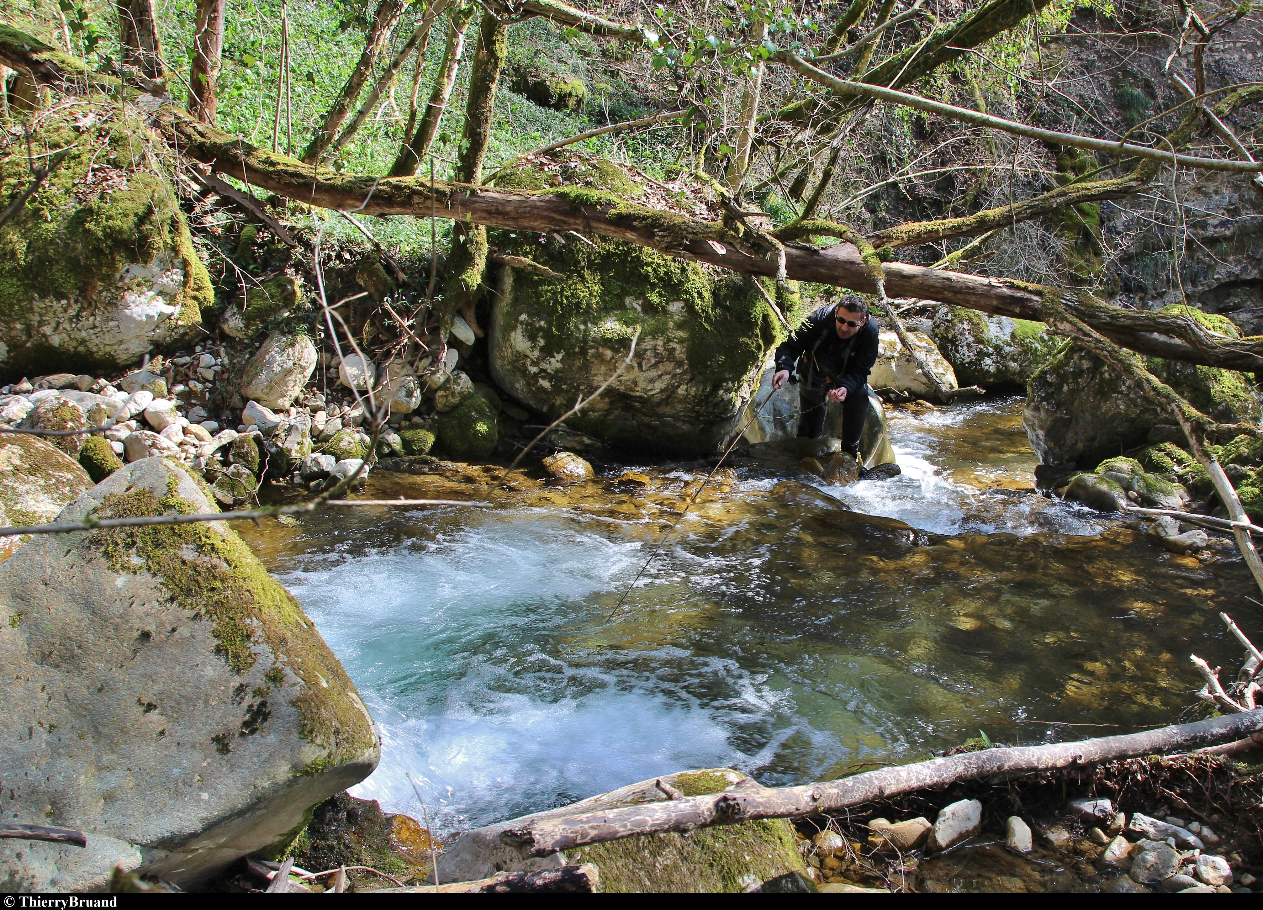 Le parcours du ruisseau de la Fougère et ses encombrements exige une bonne maîtrise technique