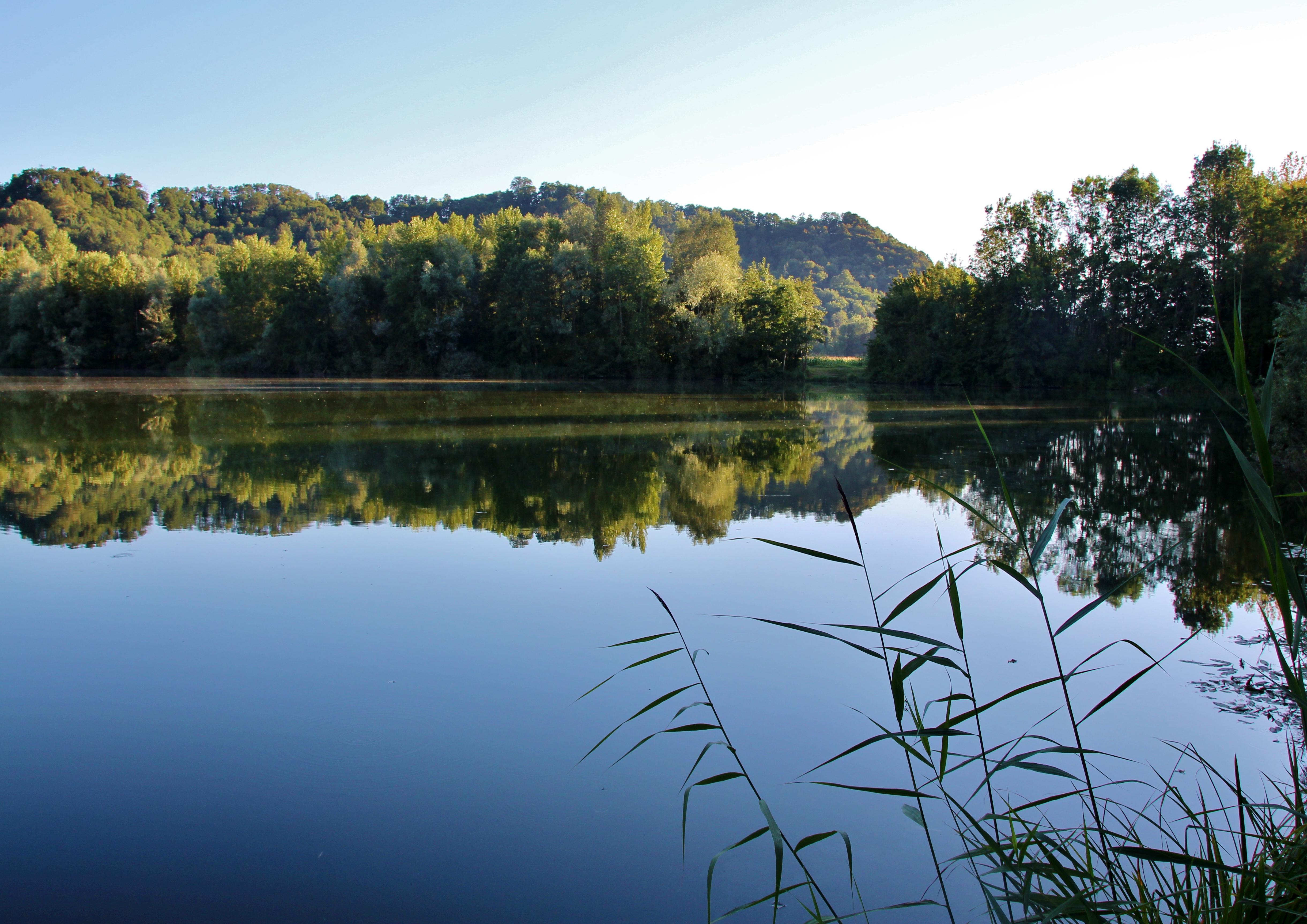 Le plan d'eau du Villaret à Coise